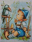 Gobelin Stickbild Stickpackung Hummel halber Kreuzstich 20x25cm. inkl. Sticktwist cod.1194