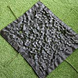 KEANCH Camouflage Net Oxford Tuch Mesh Dekorative Netto, CAMO Netting, Black Camouflage Netto-Terrassen-Balkon-Gebirgs-Cover Camo-Netz(Size:2×7m,Color:Schwarz)