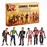 BOHS Zombie-Puppen Action-Figuren Spielzeug - Gelenke Miniaturmodell - 4 Zoll - Packung mit 6