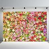 Hochzeit Blumendekor Geburtstagsszene Personalisierte fotografische Hintergründe Fotografie Hintergründe für Fotostudio A15 9x6ft / 2.7x1.8