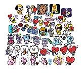 YMSD [40 Stück] Korean ins Haustier Aufkleber PVC Cool Wasserdicht Graffiti Decals VSCO Mädchen Aufkleber Niedliche Aufkleber für Kinder Geschenke