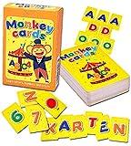 Q honey Monkey-Lernkarten für Kleinkinder   Bis zu 3 Karten mit jedem Buchstaben, 10 Zahlen, 7 Regenbogenfarben   ABC Lernen ab 3 Jahre  ABC Spiel (Deutsche)