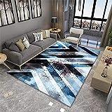 spielteppich Junge Blue Art Teppich Wohnzimmer Dekoration Anti-Slip-Maschine spielteppich Junge Teppich auslegware 180X280CM 5ft 10.9' X9ft 2.2'