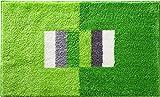 Erwin Müller Badematte, Badteppich rutschhemmend grün Größe 60x100 cm - für Fußbodenheizung geeignet, flauschig weich (weitere Farben, Größen)