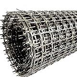 Gartennetz für Pflanzen, Gemüse, PVC-beschichtetes Kunststoff, Gartenzaun, Geflügelzaun, Hühnerdraht, Zaun (0,4 m x 4 m, Schwarz-4)