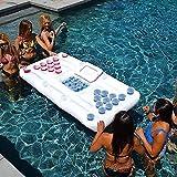NOBUNO Unterstützung 24 aufblasbarer Becher Bier Pong, Billardtisch, Wasser Schwimmen Sommerferien, Fun Rafting, Pool-Spiel, Pong, Luftmatratze, Kühler