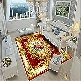 ZAZN Rechteckiger Teppich Im Retro-Stil Chinesische Haushaltsbettdecke Wohnzimmer Couchtisch Fußmatten Waschbares Material