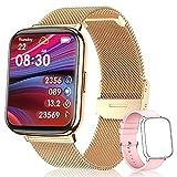 TagoBee Smartwatch Damen, 1.69 Zoll Fitness Tracker Wasserdicht IP68 Fitnessuhr Damen mit Schrittzähler, Schlafmonitor, Pulsuhr, Blutsauerstoff Smart Watch Sportuhr Armbanduhr für iOS Android Handy