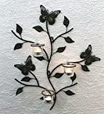 Kosoree Wandteelichthalter Metall 62 cm Wandleuchter Kerzenhalter