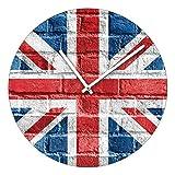 Pro-Art ta039 Glas-Wanduhr Time-Art, Union Jack, Durchmesser 40 cm