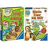 Ravensburger 21403 - Tiere und ihre Kinder - Kinderspiel, Tierwelt kennenlernen & 24731 - Mein Tier zu Mir - Puzzelspiel für die Kleinen - Spiel für Kinder ab 1 und 1/2 Jahren