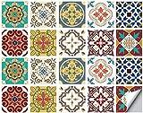 AUBIG - 20 Stück Küchenrückwand Fliesenaufkleber 10x10cm Mosaik Stil PVC Wasserdichter Wandaufkleber Küchenrückwand Folie Selbstklebende für Küche und Bad Stil B