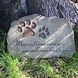 NA- Gedenkstein für Hunde und Katzen, Pfotenabdrücke, handbemalt, für den Innen- und Außenbereich, 27,9 x 20,3