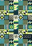 2022: A4 Wochenplaner mit Zeiteinteilung | Terminkalender mit Stunden 5 - 23h Tag | 1 Woche auf 2 Seiten mit Zeit | Kalenderbuch Planer Organizer ... Jahresplaner | Soft-Cover Geometrisch