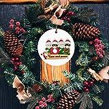 qiaoxiahe Christmas Personalisierte Heimdekorationen Die Beste Wahl für Christbaumschmuck Weihnachtsferiendekoration an den Türverkleidungen an den Wänden der Glänzend 1pc