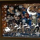 MMTX Weihnachten fensterbilder Aufkleber Dekoration, Wandaufkleber Wanddeko Design Abnehmbar Wiederverwendbare Fenster Tür Neujahr Haupt Dekorationen (A)