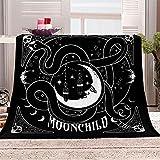 Mond Flanelldecke Kuscheldecke 3D Schlange Totenkopf schwarz Gedruckt Decke 70x100cm Super Soft Weiche Wohndecke Warm Flauschige Decken TV-Decke für Kinder Geschenk