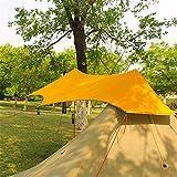 EXCLVEA Zeltplane Camping Silikonbeschichtete Ultraleicht-Plane im Freien Camping Survival Markise Markise Silber Beschichtung Wasserdichtes Zelt zum Wandern Camping (Farbe : Yellow, Size : 2.5X3m)