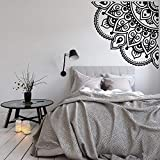 Viertel Mandala Wandtattoo Mandala Wandaufkleber Schlafzimmer Meditation Dekor Ecke Mandala Tapete Wandkunst A1 42x42