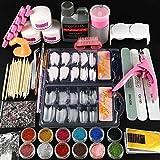 Professionelles Maniküre-Set für Nagelkunst, Acrylpulver, flüssige Grundierung, Übungswerkzeug, komplettes Set für Nagelkunst (inkl. Acrylflüssigkeit)