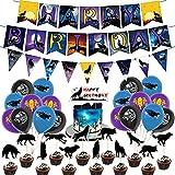 Wolf Geburtstagsfeier Dekorationen Wolf Tier Thema Party liefert alles Gute zum Geburtstag Banner Latexballon Kinder Jungen Mädchen Lieferungen