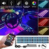 Gabriel Auto LED Innenbeleuchtung, 4 Stück 72 LED Multicolor Musik Auto Innenbeleuchtung unter Dash Lighting Kit mit Sound Active Funktion und drahtloser Fernbedienung, DC 12V