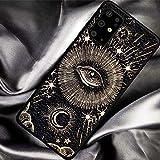 WEAMO Funda Tod Hexe Mond Cat Tarot Phone Case für Samsung Galaxy S7 S8 S9 S10 S11 S21 Rand Plus S15 Anmerkung 8 9 10 Tiefe Abdeckung