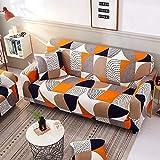 WXQY Geometrisches Twill-Muster Elastische Sofabezug Möbel Schutzhülle, Elastischer Sessel und Sofabezug Sofa Handtuch A17 2-Sitzer