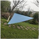 DAIHAN Sonnensegel Dreieckig, Sonnenschutz UV Schutz, Windschutz Wetterschutz Wasserabweisend, für Terrasse, Balkon Und Garten,Himmelblau,6x6x6M