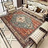 Oukeep Teppich Im Bosnischen Europäischen Stil, rutschfeste Verdickung, Waschbares Wohnzimmer, Couchtischdecke, Schlafzimmersofa, Eingangskissen