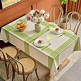 CCBAO Anti-Fouling-Tischdecke, wasserdichte, Brühfeste Und Ölbeständige PVC-Tischdecke, Pflegeleicht, Haushalts-Innen- Und Außentischdecken, Restaurant-Couchtischdecke 100x160cm