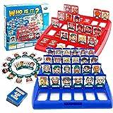 Wer ist es Spiel für Kinder - Logisches Denken Wer ist es Kinder Brettspiel Interaktives Spielset, Das Rätsel-Gesicht-Ratespiel für Eltern Kind Mehrspieler Interaktives Spielzeug ab 2 Jahren