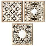 Home Collection 3 Holz Wandobjekte Spiegel Wand Spiegelobjekte orientalisch Marrakesch 30cm S