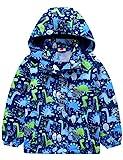 Echinodon Jungen Gefütterte Outdoorjacke Wanderjacke wasserabweisend Winddicht Kinder Jacke Regenjacke Übergangsjacke Blau 98-104