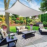 W.Z.H.H.H Schattensegel Anti-UV-Schutz 70% wasserdichtes Oxford-Tuch im Freien Sonne Sonnenschutz Sonnensegel Net Überdachungen Yard Garten Sonnenschutztuch. (Color : 3x5m, Size : Grey)