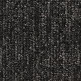 Teppichboden Auslegware | Büro Schlinge gemustert | 400 und 500 cm Breite | anthrazit schwarz | Meterware, verschiedene Größen | Größe: 2 x 4
