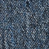 Teppichboden Auslegware Meterware Schlinge blau 400 und 500 cm breit, verschiedene Läng
