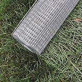Wiltec Maschendraht Drahtgitter Volierendraht Stahl verzinkt 1mx25m 0,75mm Drahtstärke 19x19mm Maschenmaße
