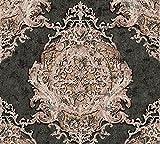 Architects Paper Vliestapete Luxury Classics Tapete mit Ornamenten barock 10,05 m x 0,53 m braun metallic schwarz Made in Germany 343722 34372-2