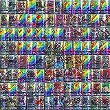 AUMIDY Pokemon Karten, 100 Stück Sammelkarten Pokemon Kartenset 95 GX Karten und 5 Mega, Ultra Beast GX EX Tag Team Karten Mega Trainerkarte Karten Seltene Energiekarten